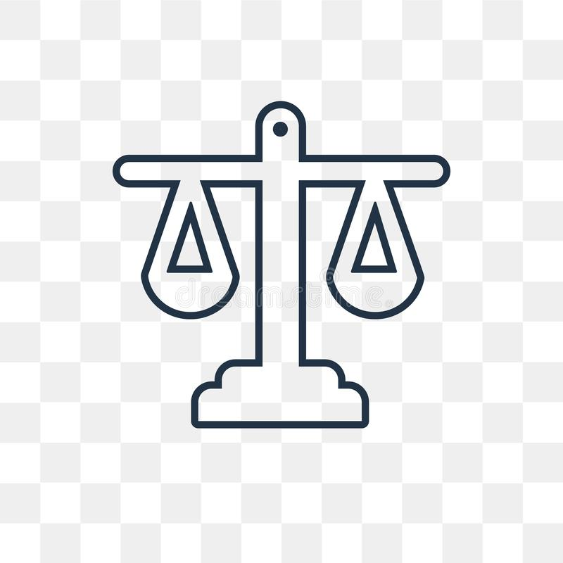 Equality vector icon isolated on transparent background, linear royalty free illustration