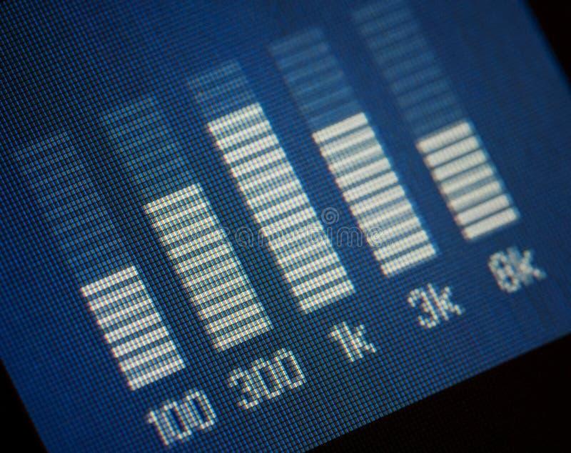 Equalizador azul de la música fotografía de archivo
