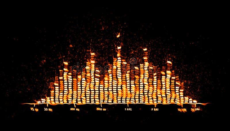 Equalizador com chamas a preto ilustração do vetor