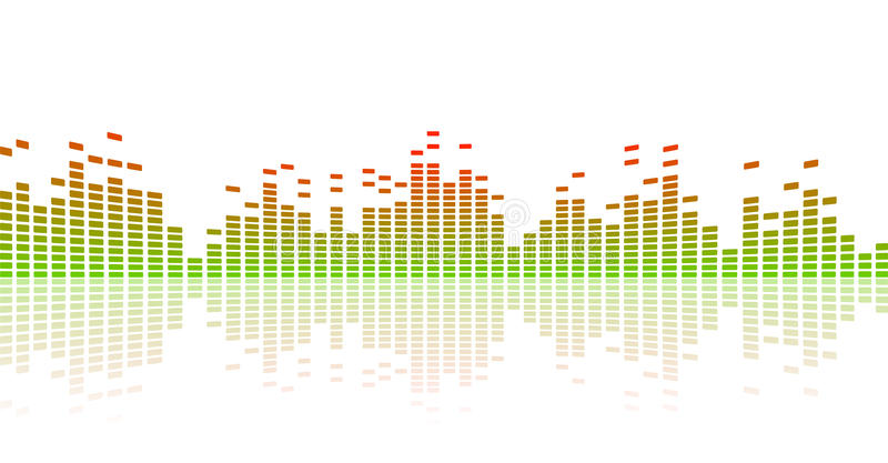 Equalizador da cor ilustração stock