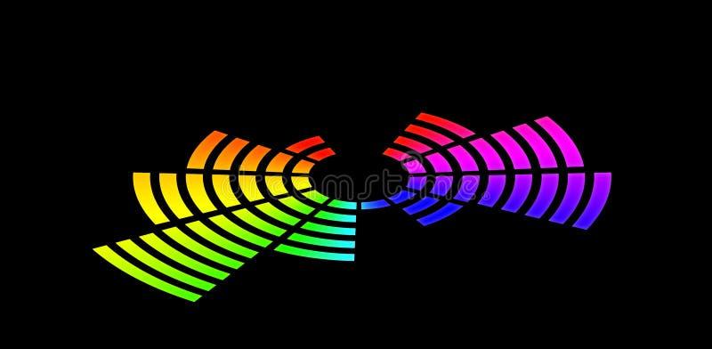 Equalizador de explosão do arco-íris ilustração do vetor