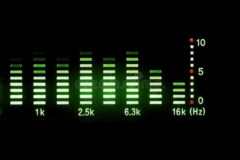 Equalizador de la música imagen de archivo