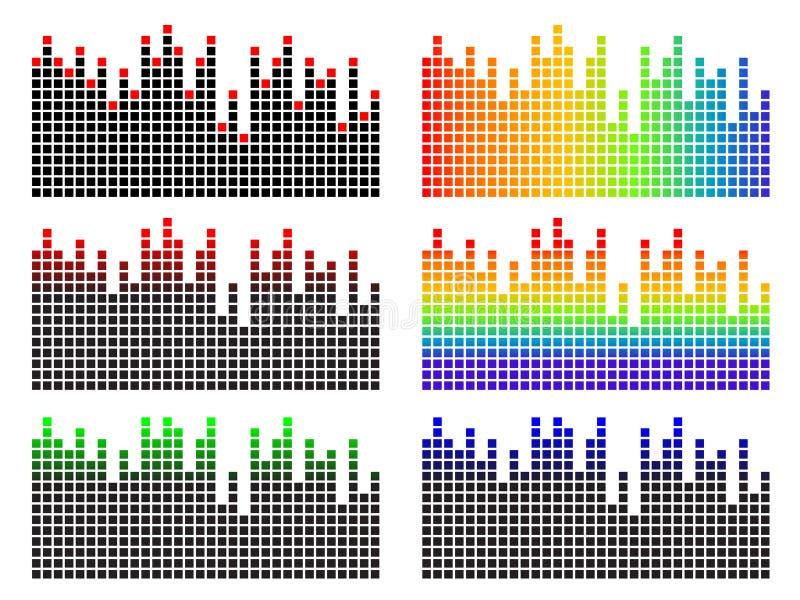 Equalizador do pixel ilustração royalty free