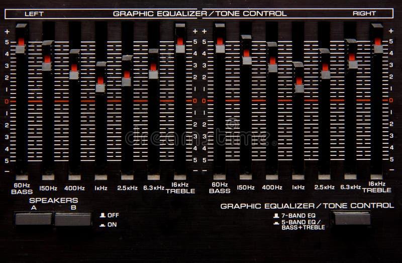 Equalizador gráfico foto de archivo