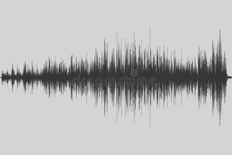 Equalizador musical Onda sadia Frequência de rádio Ilustração do vetor ilustração royalty free