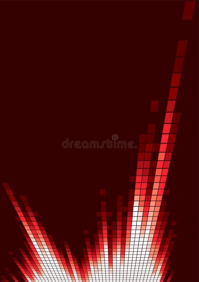 Equalizador vermelho ilustração stock