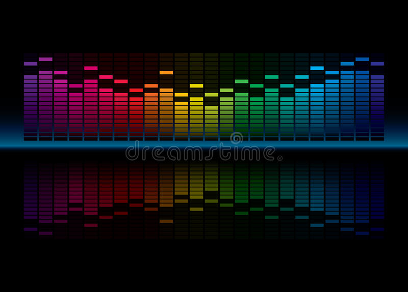 Equalizer. Coloful Graphic Equalizer Display (editable vector enable