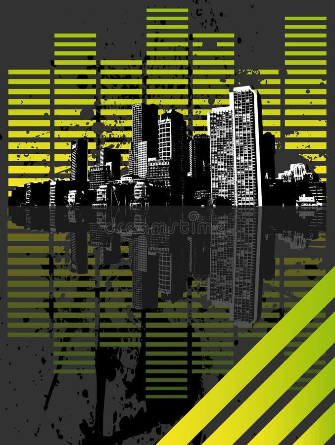 Download Equalizer city stock vector. Illustration of gradient - 4308297