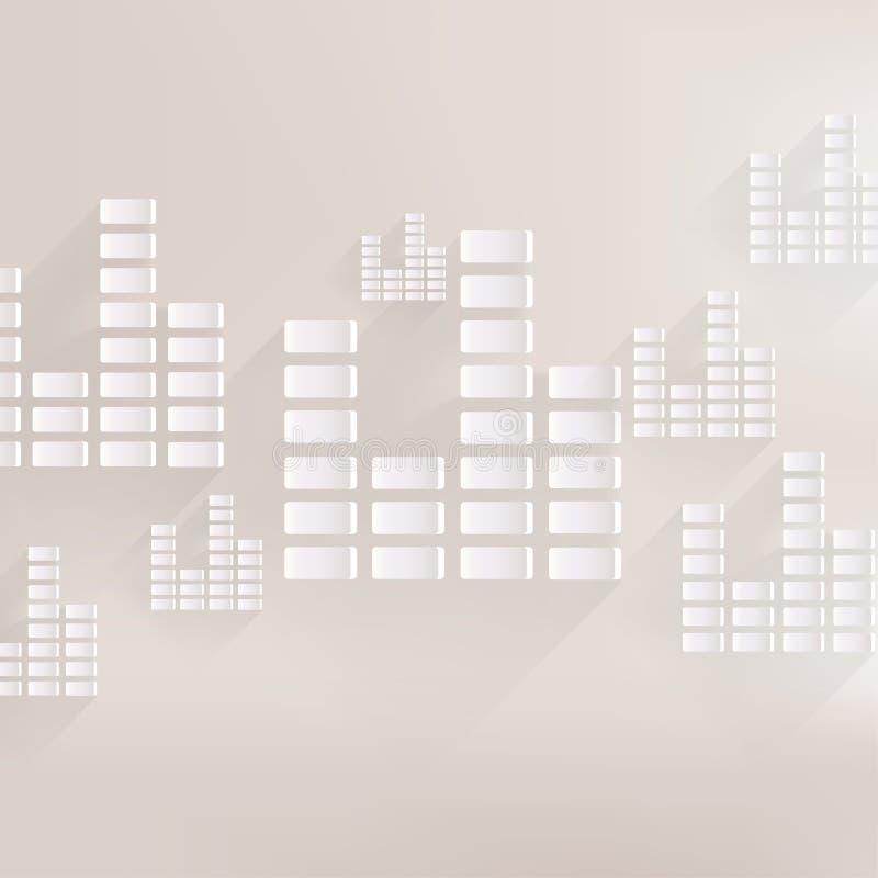 Equalizer icon. Music sound wave symbol vector illustration