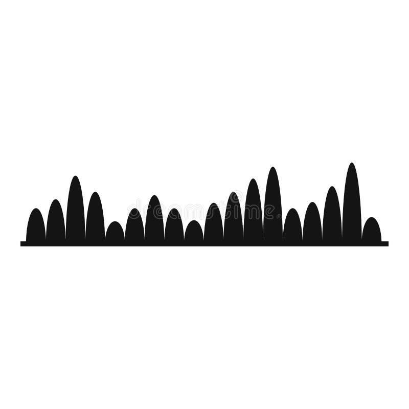 Equalizer level icon, simple black style. Equalizer level icon. Simple illustration of equalizer level icon for web stock illustration