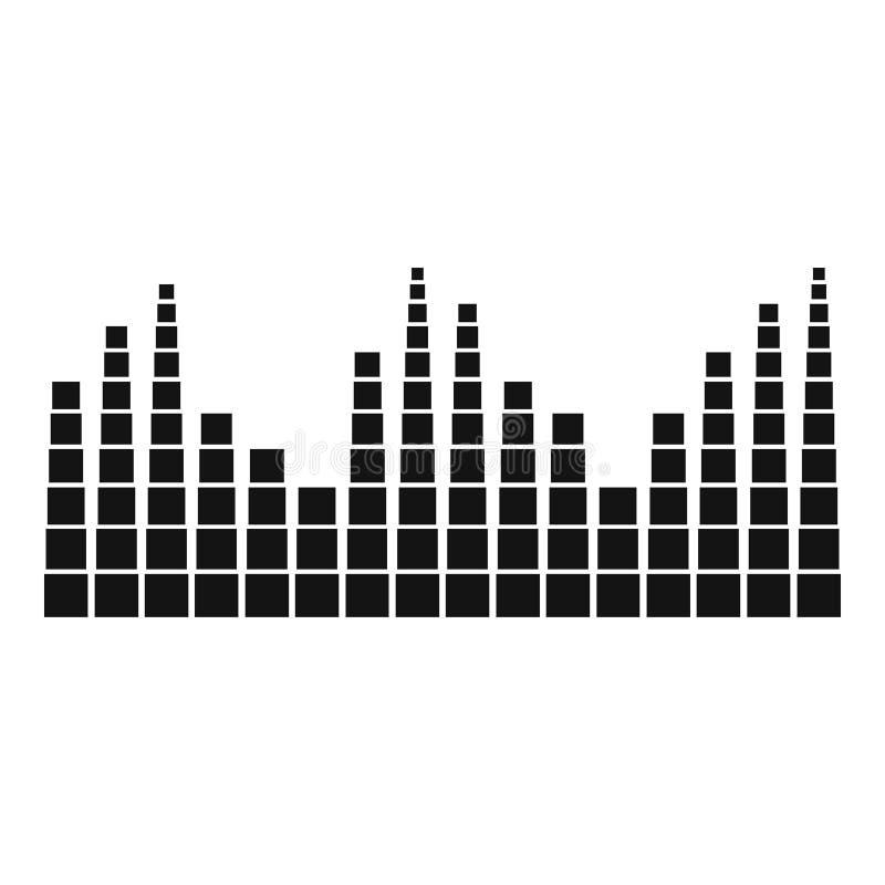 Equalizer level radio icon, simple black style. Equalizer level radio icon. Simple illustration of equalizer level radio icon for web royalty free illustration