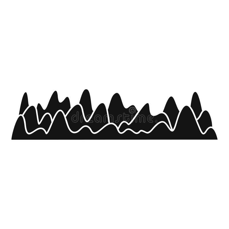 Equalizer sound vibration icon, simple black style vector illustration