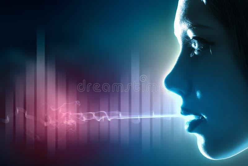 Sound wave illustration stock photo