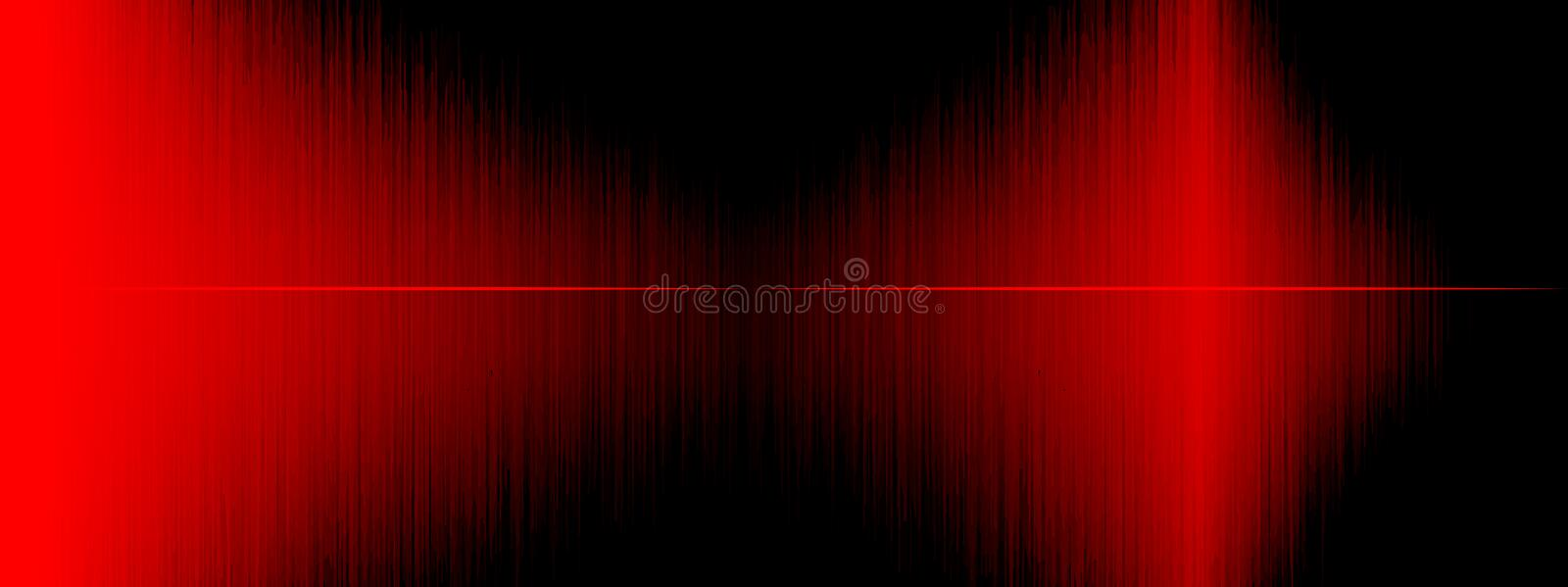 Equalizer, Sound wave , wave frequencies, light abstract background, Bright, laser. Red Sound waves oscillating. Abstract music stock illustration
