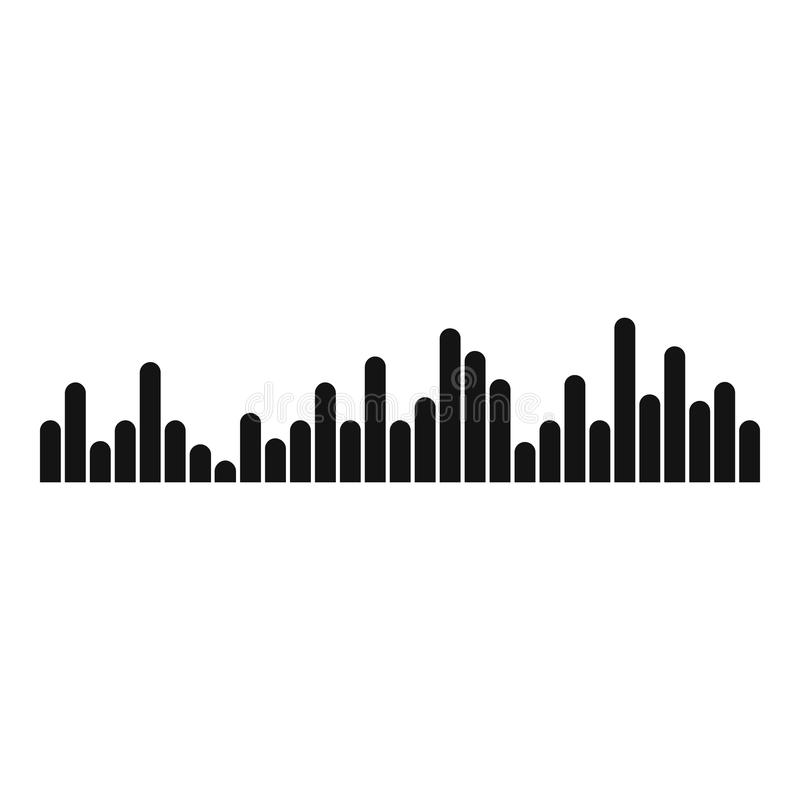 Equalizer Vibration Icon, Simple Black Style Stock Vector ...