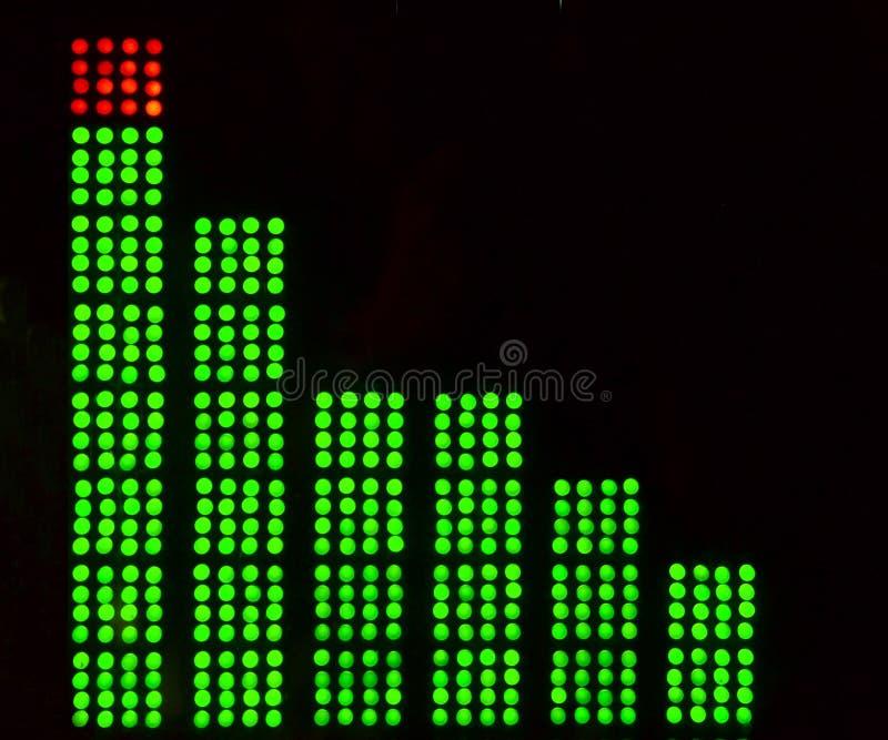 Equalizzatori grafici di musica LED immagini stock