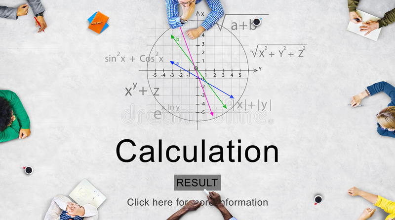 Equation Formula Geometry Calculation Concept royalty free illustration