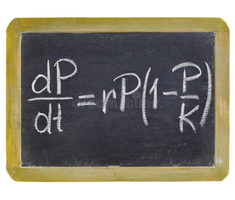 Equation Of Population Growth Royalty Free Stock Photos