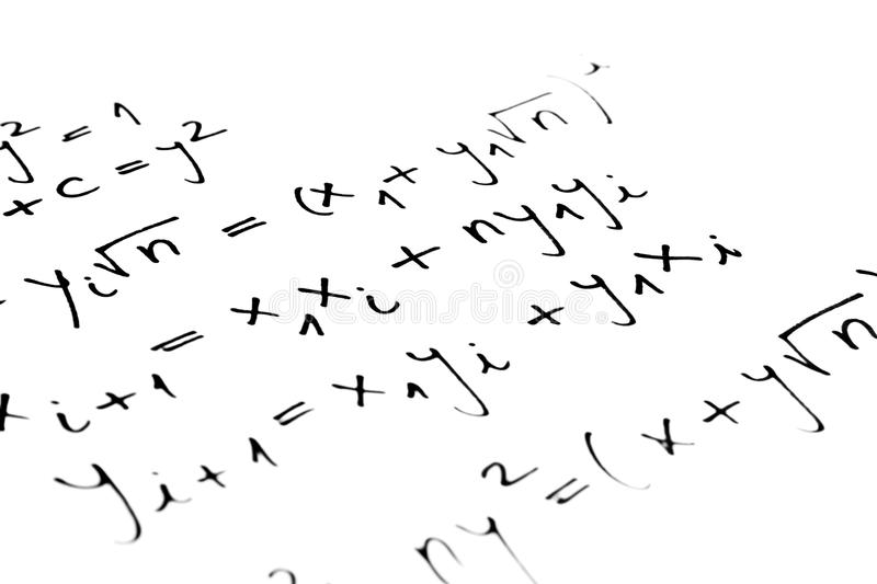 Equations royalty free stock photo