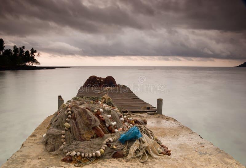 Equator Beach royalty free stock image