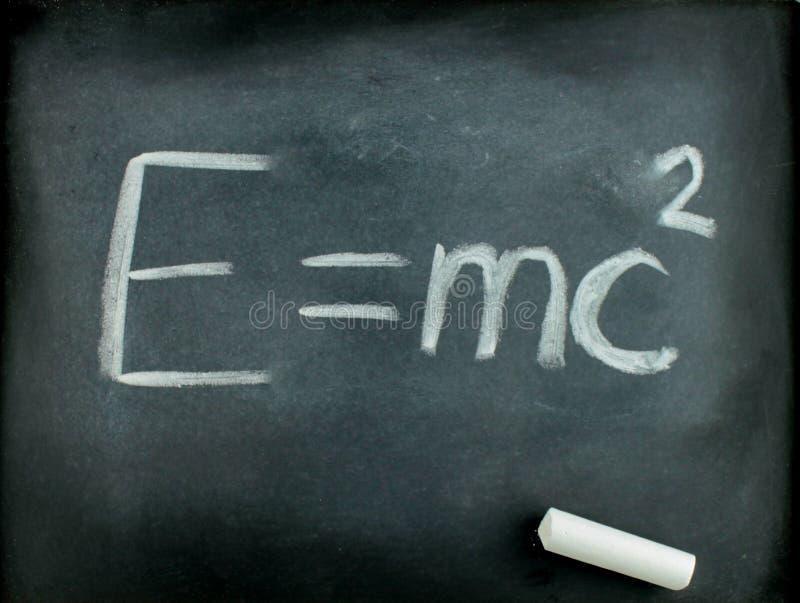 Equazione E=mc2 del Albert Einstein famoso fotografia stock