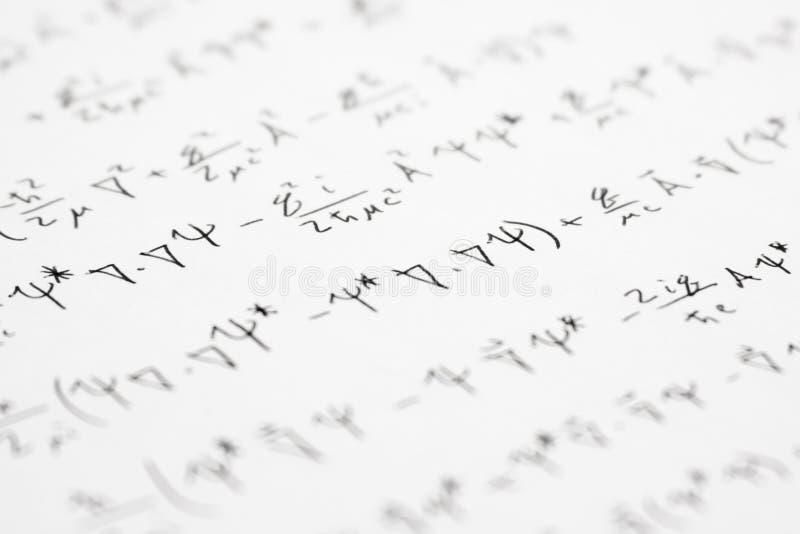 Equazioni 2 di Quantum fotografie stock