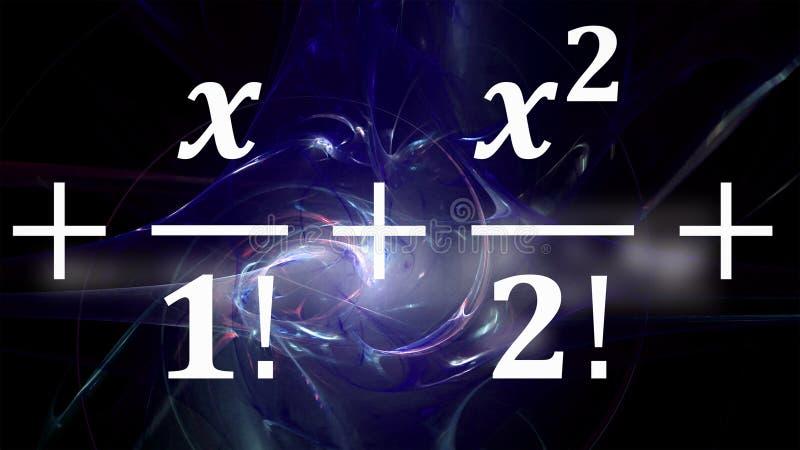 Equazioni di per la matematica che volano e che scompaiono nella distanza fotografia stock libera da diritti