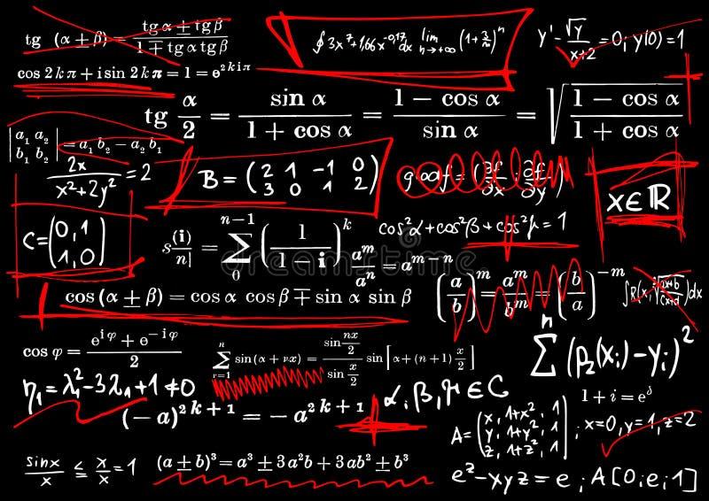 Equazioni matematiche royalty illustrazione gratis