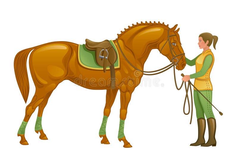 Equestre ilustração stock