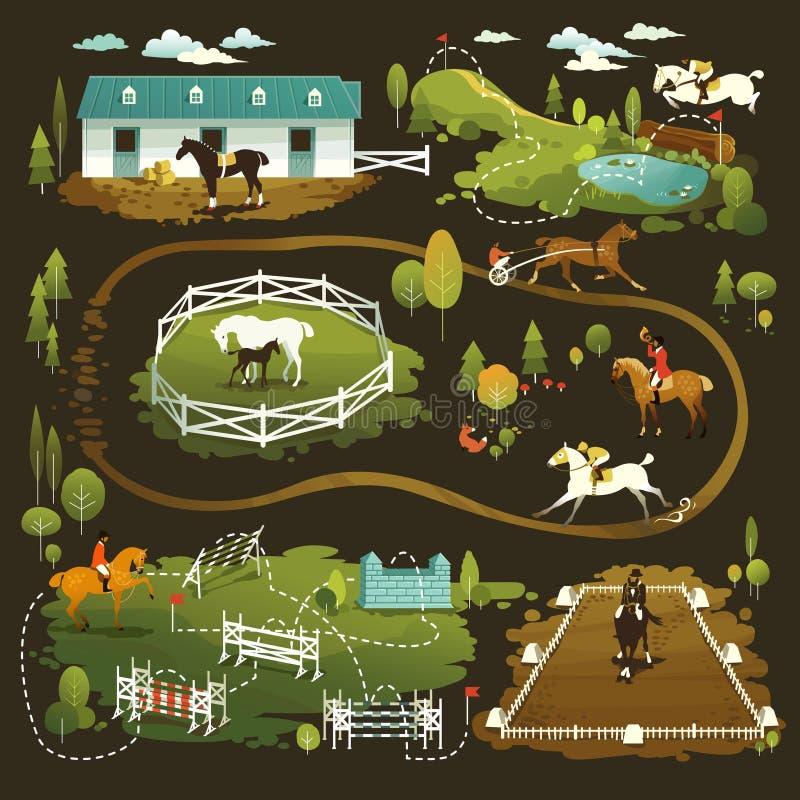 Equestrian świat royalty ilustracja