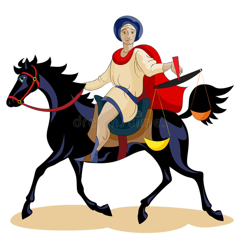 Download Equestrian Of The Apocalypse Hunger Stock Vector - Image: 24675963