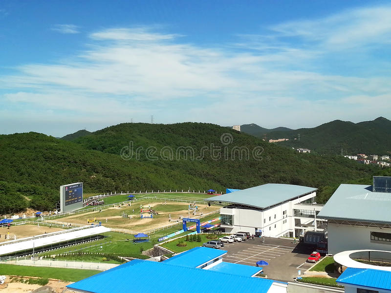 Equestrian Competition Area Stock Images