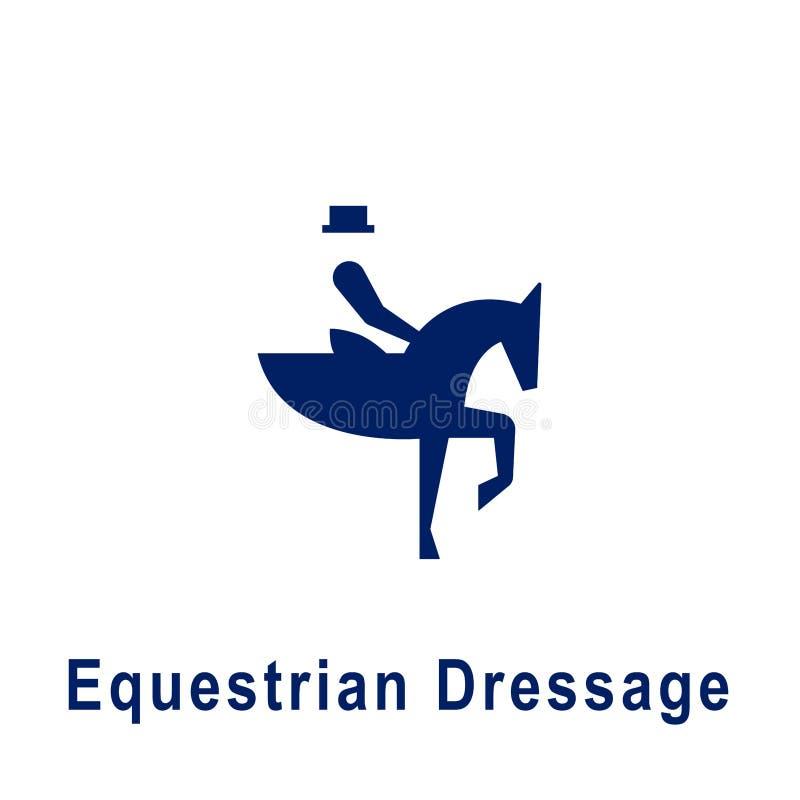 Equestrian Dressage piktogram, nowa sport ikona royalty ilustracja