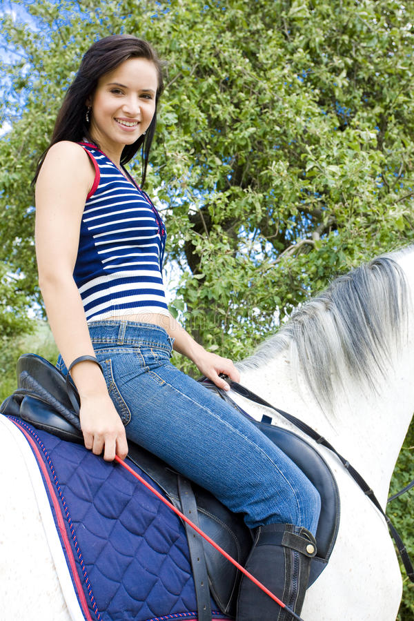 Equestrian on horseback stock photography