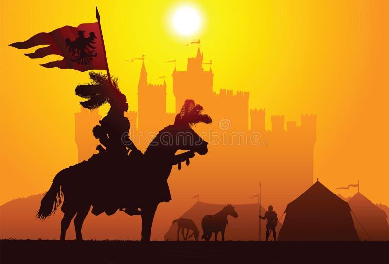 Equestrian rycerz ilustracja wektor
