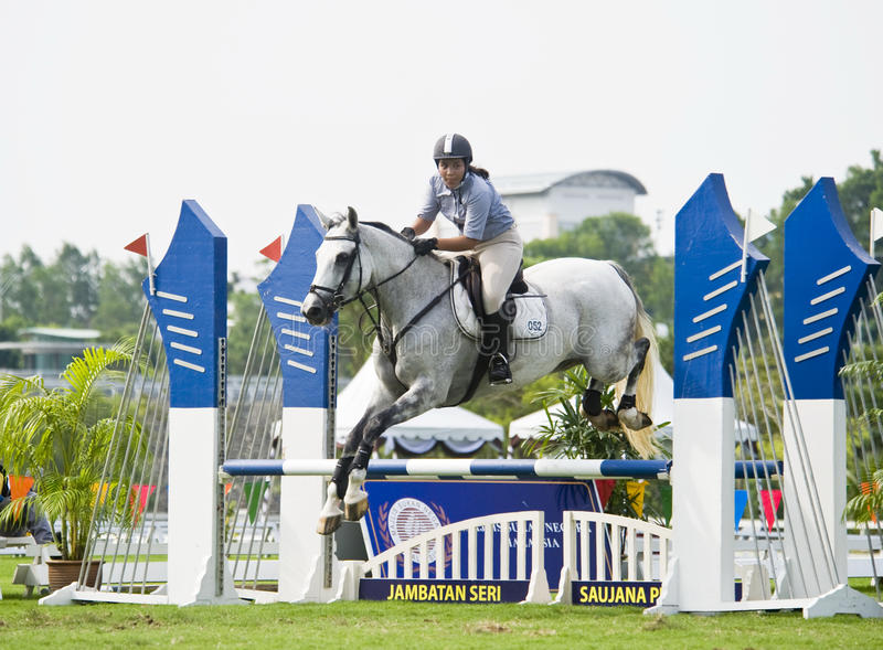 Download Equestrian Show Jumping editorial stock image. Image of event - 10057779