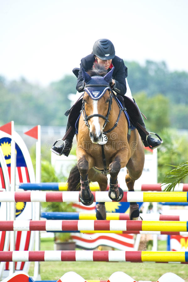 Equestrian Show Jumping Editorial Image