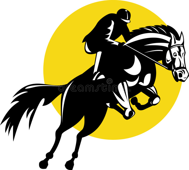 Download Equestrian show jumping stock illustration. Illustration of horseback - 6897182