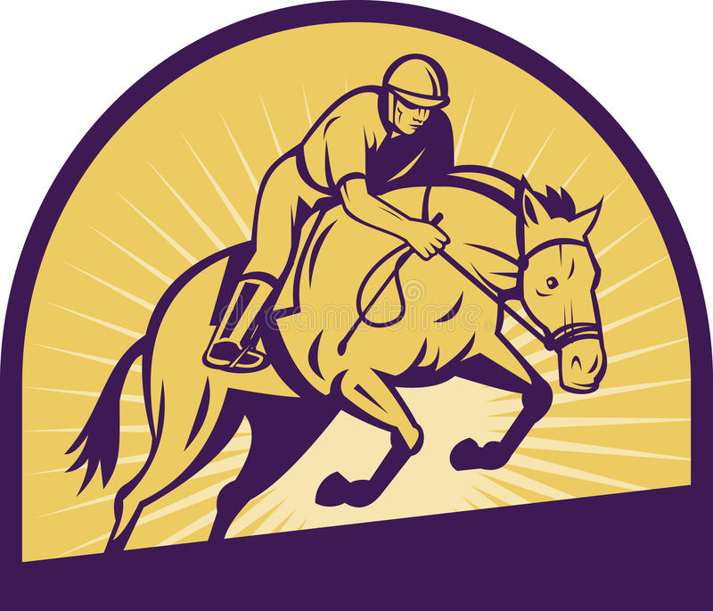 Download Equestrian Show Jumping Horse Stock Illustration - Image: 15221671