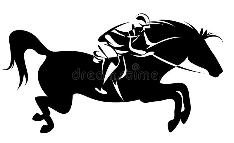 Equestrian sport vector vector illustration