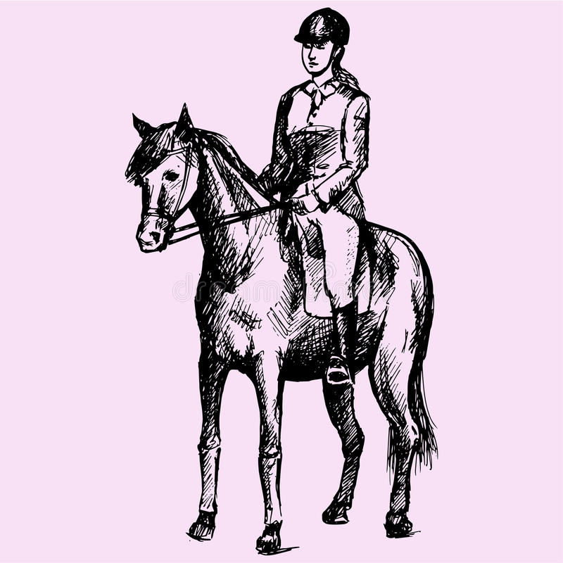 Equestrian sport stock illustration