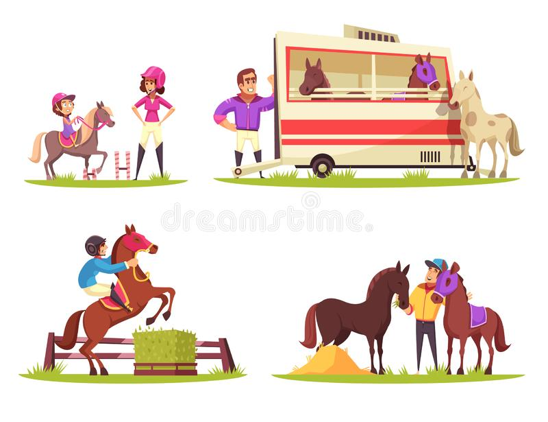 Equestrian sporta projekta pojęcie royalty ilustracja