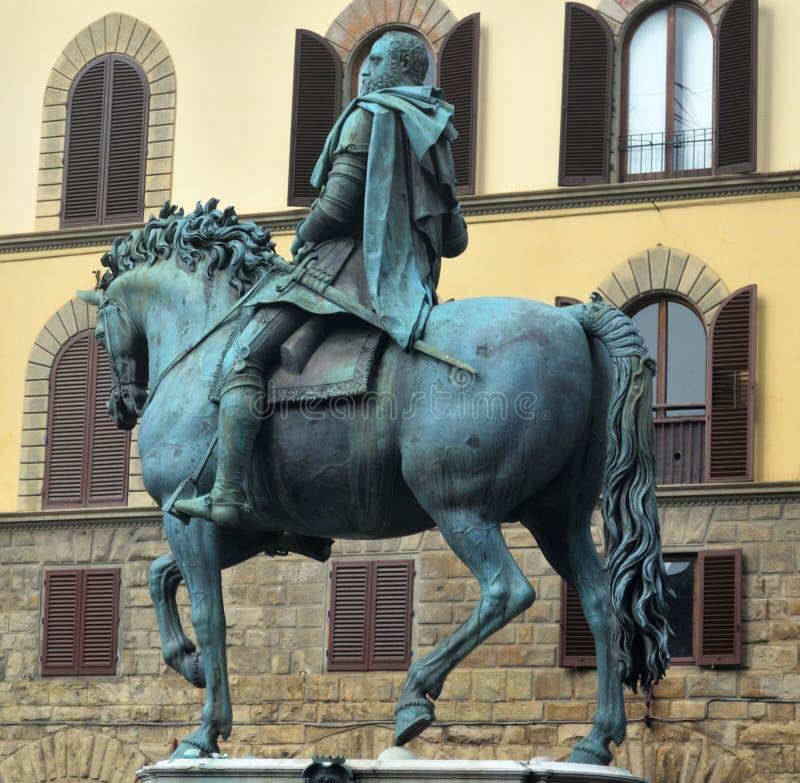 Equestrian statua Ferdinand Ja de 'Medici w Florencja obrazy stock