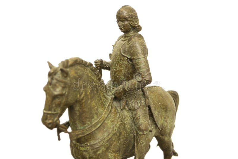 Equestrian statua Ferdinand Ja, królewiątko Aragon Szalkowy model obraz stock