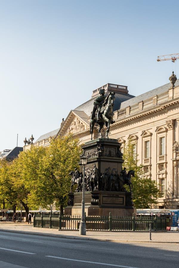 Equestrian statua Frederick Wielki fotografia royalty free