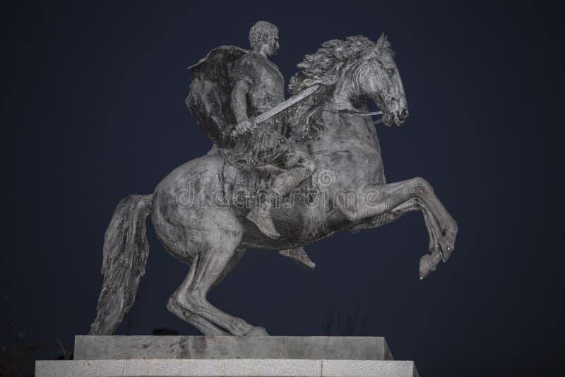 Equestrian statua Marcus Vipsanius Agrippa, organizator t zdjęcie royalty free
