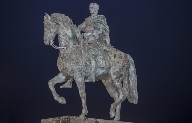 Equestrian statue of Augustus Emperor, Merida, Spain royalty free stock image