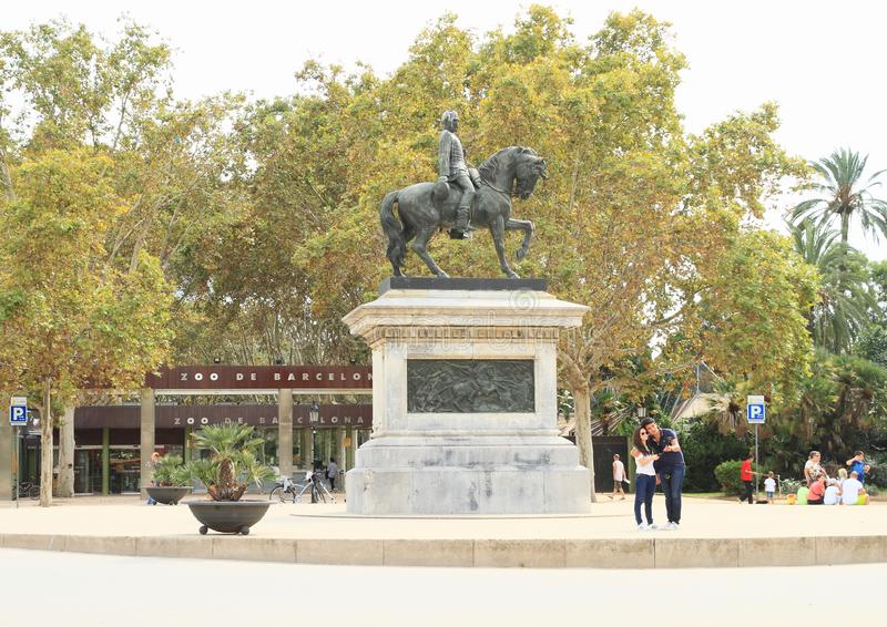 Equestrian Statue Of General Prim In Barcelona Editorial Photo Image Of Parc Palm 108718046