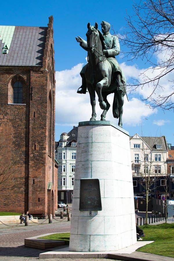 Equestrian Statue - King Christian X, Denmark royalty free stock photo