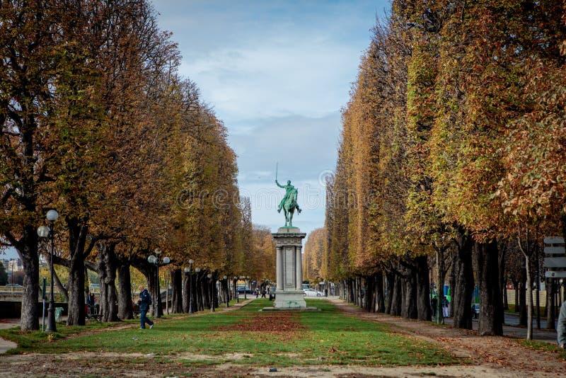 Equestrian Statue of Simon Bolivar in Paris, France stock photos